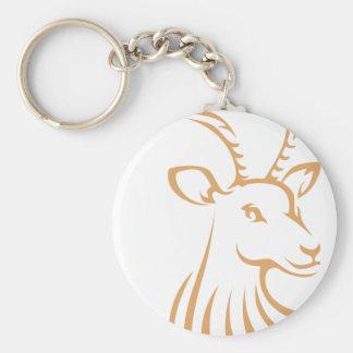 Logotipo fresco de los ciervos del antílope llavero personalizado