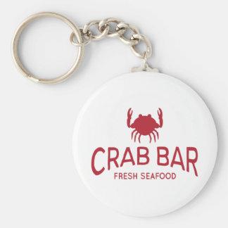 Logotipo fresco de los mariscos de la barra del llavero redondo tipo pin