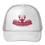 Logotipo fresco de los mariscos de la cabaña de la gorro de camionero