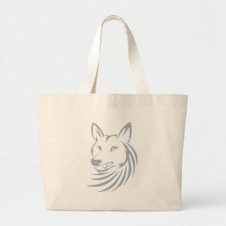 Logotipo fresco del coyote de la caza bolsas