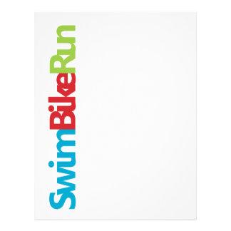 Logotipo fresco del Triathlon para todos los amant Membretes Personalizados