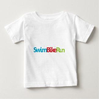 Logotipo fresco del Triathlon para todos los Playera De Bebé