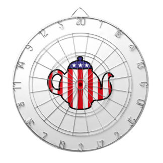 Logotipo fuerte de la fiesta del té tabla dardos