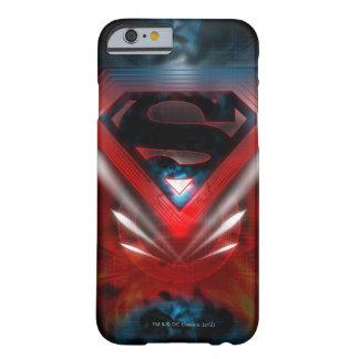 Logotipo futurista del superhombre funda de iPhone 6 slim