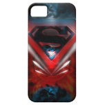 Logotipo futurista del superhombre iPhone 5 Case-Mate coberturas