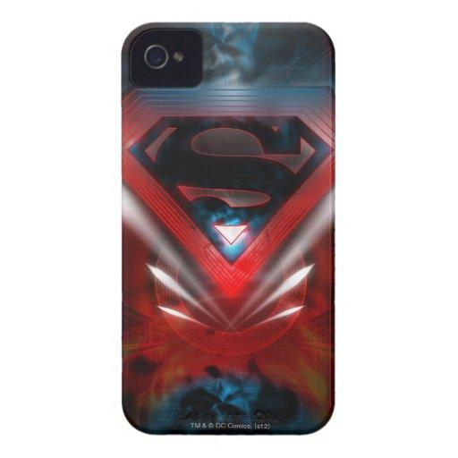Logotipo futurista del superhombre Case-Mate iPhone 4 fundas