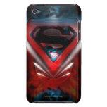 Logotipo futurista del superhombre iPod touch Case-Mate protector