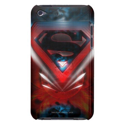 Logotipo futurista del superhombre iPod Case-Mate coberturas