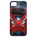 Logotipo futurista del superhombre iPhone 5 carcasa