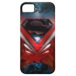 Logotipo futurista del superhombre iPhone 5 fundas