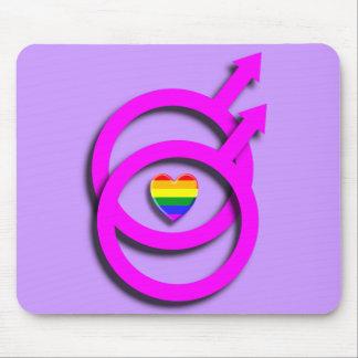 Logotipo gay Mousepad