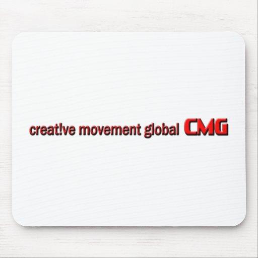 Logotipo global del movimiento creativo mouse pad