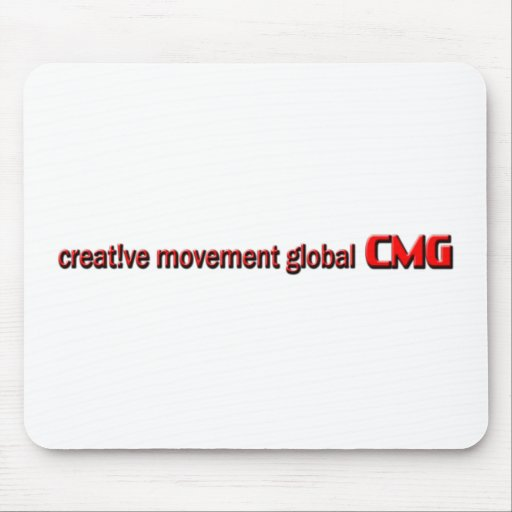 Logotipo global del movimiento creativo alfombrillas de ratones