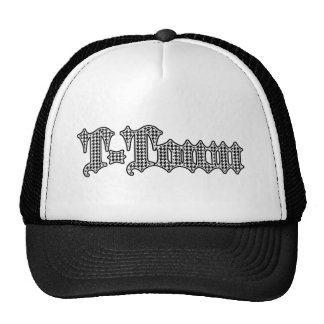 logotipo gótico Houndstooth de la T-ciudad Gorras