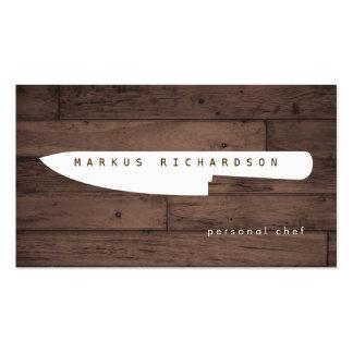 Logotipo grande 4 del cuchillo del cocinero para tarjetas de visita
