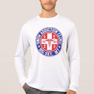 Logotipo grande de la clínica del apego de la niev camiseta