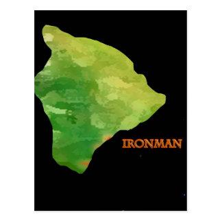 Logotipo grande de la isla de Ironman Postal