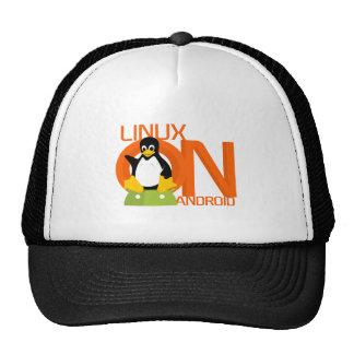 Logotipo grande de LinuxonAndroid Gorros Bordados