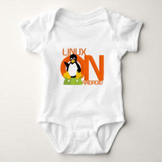 Logotipo grande de LinuxonAndroid Mameluco De Bebé