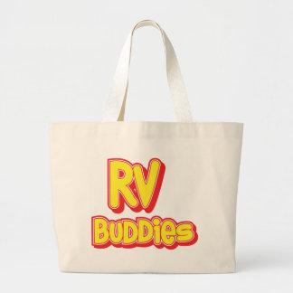 Logotipo grande de los compinches de rv bolsas de mano
