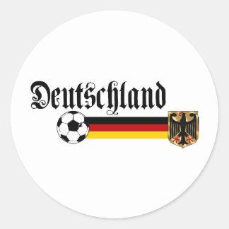 Logotipo grande del fussball de Deutschland Pegatina Redonda