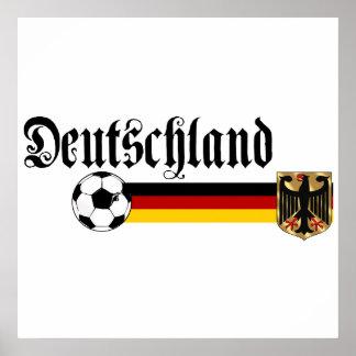 Logotipo grande del fussball de Deutschland Póster