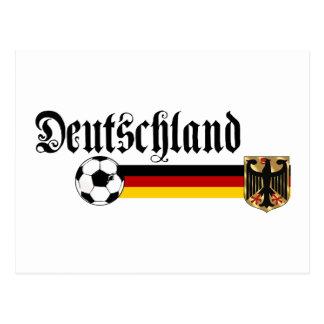 Logotipo grande del fussball de Deutschland Tarjeta Postal