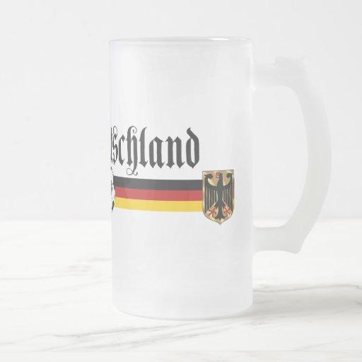 Logotipo grande del fussball de Deutschland Tazas De Café