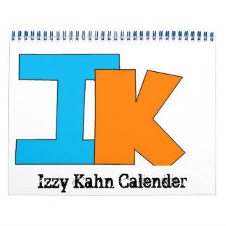 logotipo grande del kahn izzy calendarios de pared