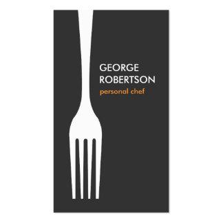 LOGOTIPO GRANDE para el cocinero, abastecimiento, Tarjetas De Visita