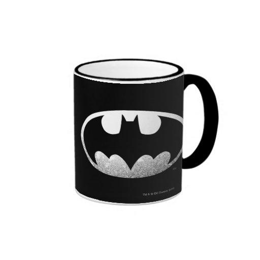 Logotipo granoso de Batman Taza