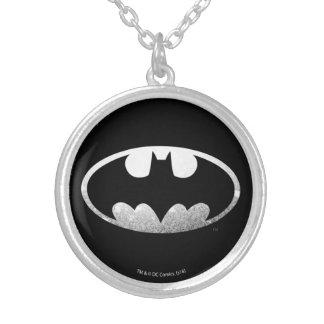 Logotipo granoso del símbolo el   de Batman Colgante Redondo
