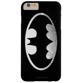 Logotipo granoso del símbolo el | de Batman Funda De iPhone 6 Plus Barely There