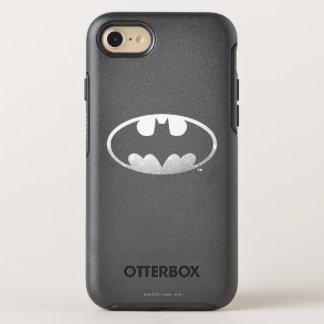 Logotipo granoso del símbolo el | de Batman Funda OtterBox Symmetry Para iPhone 7