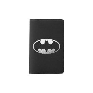 Logotipo granoso del símbolo el   de Batman Funda Para Libreta Y Libreta Pequeña Moleskine