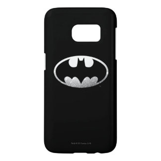 Logotipo granoso del símbolo el | de Batman Funda Samsung Galaxy S7