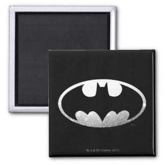 Logotipo granoso del símbolo el | de Batman Imán Cuadrado
