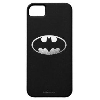 Logotipo granoso del símbolo el | de Batman iPhone 5 Carcasa