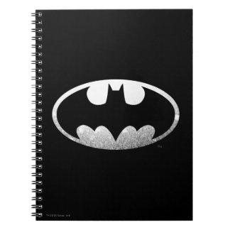 Logotipo granoso del símbolo el   de Batman Note Book