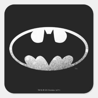 Logotipo granoso del símbolo el | de Batman Pegatina Cuadrada