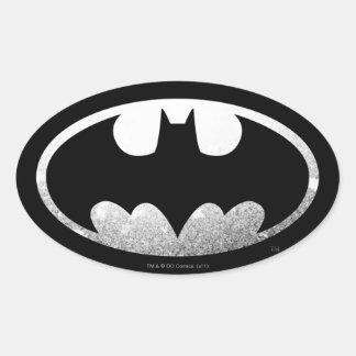 Logotipo granoso del símbolo el | de Batman Pegatina Ovalada