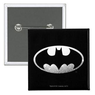 Logotipo granoso del símbolo el | de Batman Pin Cuadrado