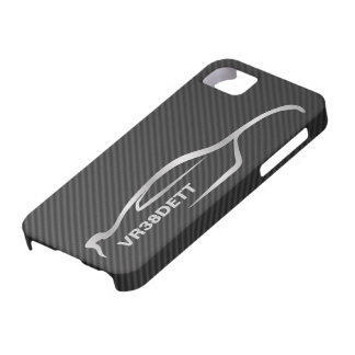 Logotipo gris de la silueta de GT-r del horizonte iPhone 5 Cobertura
