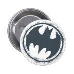 Logotipo gris del Grunge de Batman Pins