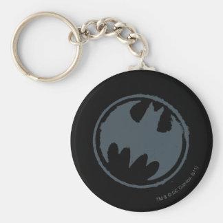 Logotipo gris del Grunge del símbolo el | de Llavero Redondo Tipo Pin
