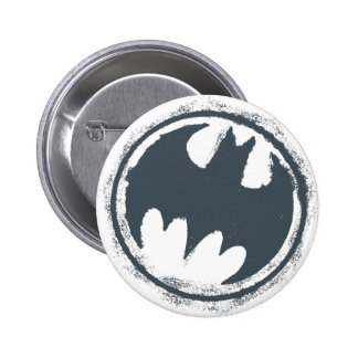 Logotipo gris del Grunge del símbolo el | de Pin Redondo De 2 Pulgadas