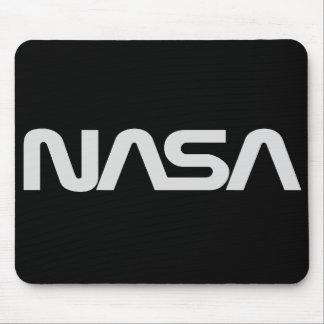 Logotipo gris del gusano de la NASA Alfombrillas De Raton