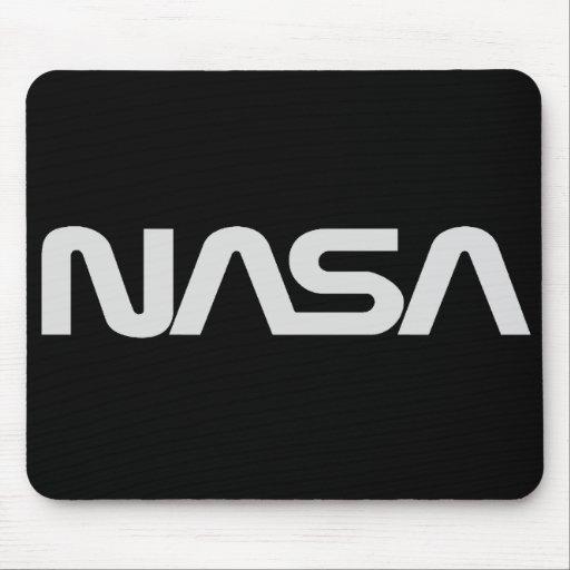 Logotipo gris del gusano de la NASA Alfombrilla De Ratón