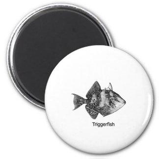 Logotipo gris del Triggerfish Imán Redondo 5 Cm