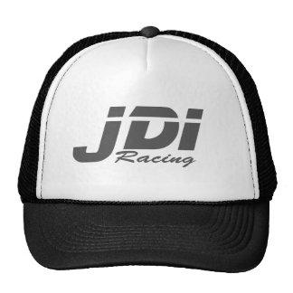 Logotipo gris oscuro del sombrero del camionero de gorros